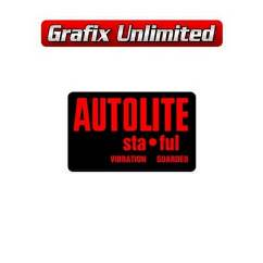 Battery Decal, Autolite Sta Ful Side