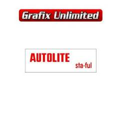 Battery Decal, Autolite Sta Ful Top