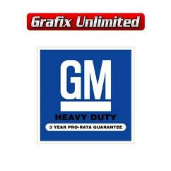 Battery Decal, GM