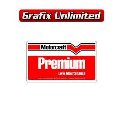 Battery Decal, Motorcraft Premium
