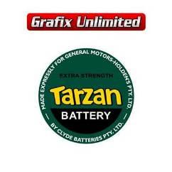 Battery Decal, Tarzan GMH