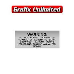 Battery Decal, Warning