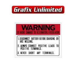 Battery Warning Decal 1966 - 1971