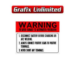 Battery Warning Decal 1978 - 1984
