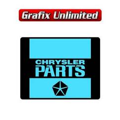 Battery Decal, Chrysler Parts