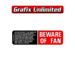 Beware of Fan Decal