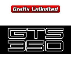 Boot Decal, GTS 350