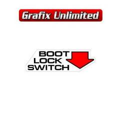 Boot Lock Switch Decal