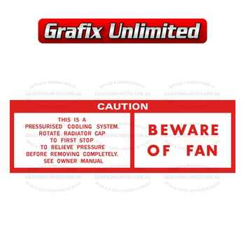 Caution Beware of Fan Decal 1971 - 1977