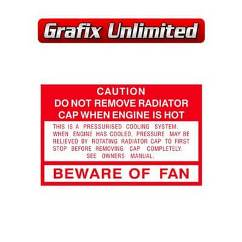 Caution Beware of Fan Decal 1985 - 1992