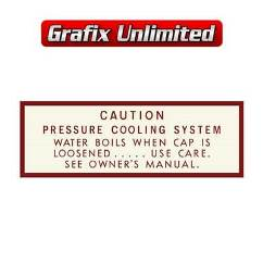 Caution Pressure Cooling System Decal