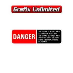 Danger Electronic Ignition Decal