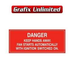Danger Fan Decal