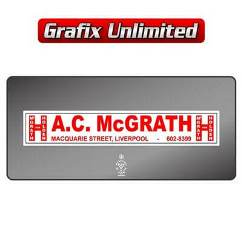 Dealership Decal, A.C. McGrath