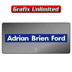 Dealership Decal, Adrian Brien Ford