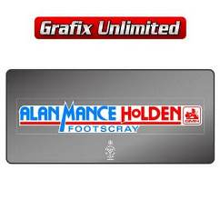 Dealership Decal, Alan Mance Holden
