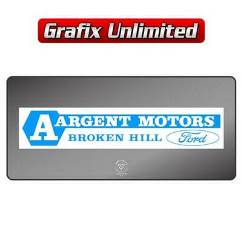 Dealership Decal, Argent Motors