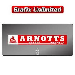 Dealership Decal, Arnotts Motors