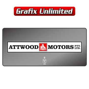Dealership Decal, Attwood Motors Pty. Ltd.