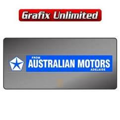 Dealership Decal, Australian Motors