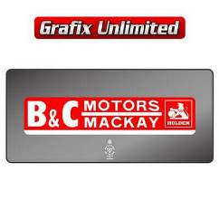 Dealership Decal, B & C Motors Mackay