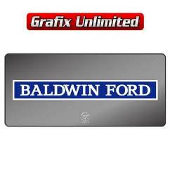 Dealership Decal, Baldwin Ford 1969 - 1971