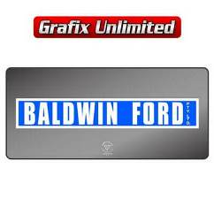 Dealership Decal, Baldwin Ford 1972 - 1975