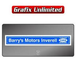 Dealership Decal, Barrys Motors Inverell