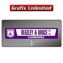 Dealership Decal, Beazley & Bruce Pty Ltd