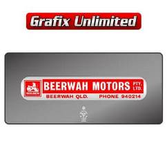 Dealership Decal, Beerwah Motors