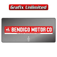 Dealership Decal, Bendigo Motor Co