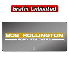 Dealership Decal, Bob Rollington