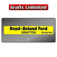 Dealership Decal, Boyd Boland Ford
