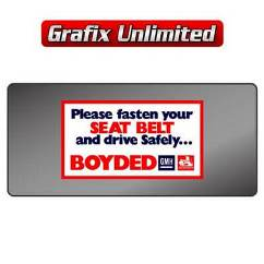 Dealership Decal, Boyded Seat Belt