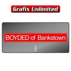 Dealership Decal, Boyded of Bankstown