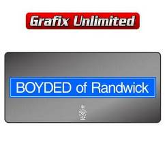 Dealership Decal, Boyded of Randwick