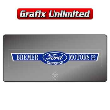 Dealership Decal, Bremer Motors Miranda