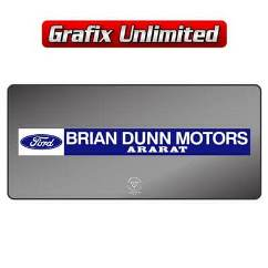 Dealership Decal, Brian Dunn Motors