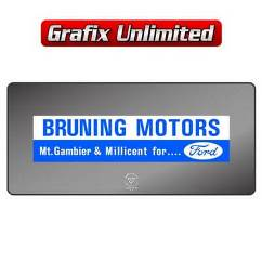 Dealership Decal, Bruning Motors