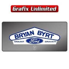 Dealership Decal, Bryan Byrt Ford