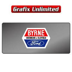 Dealership Decal, Byrne Ford