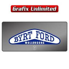 Dealership Decal, Byrt Ford Wollongong