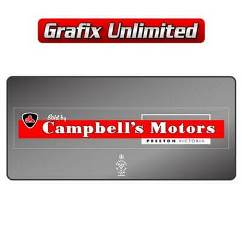 Dealership Decal, Campbells Motors Preston