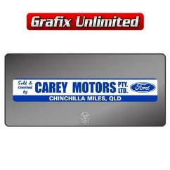 Dealership Decal, Carey Motors