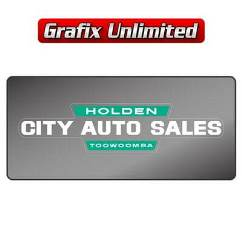 Dealership Decal, City Auto Sales