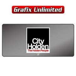 Dealership Decal, City Holden
