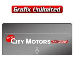 Dealership Decal, City Motors Naturally 1972
