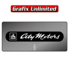 Dealership Decal, City Motors Perth