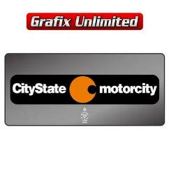Dealership Decal, Citystate Motorcity