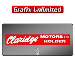 Dealership Decal, Claridge Motors For Holden